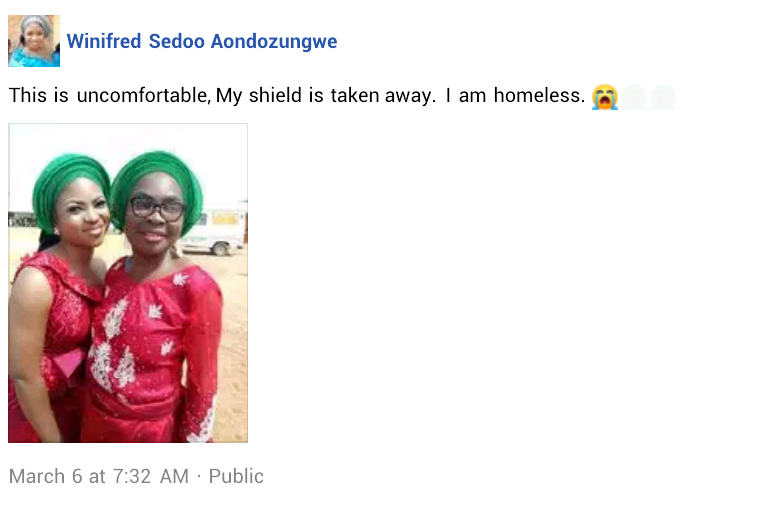 """My shield has been taken away"" - Grieving daughter of widow allegedly burnt alive by suspected thugs in Benue renounces her community"