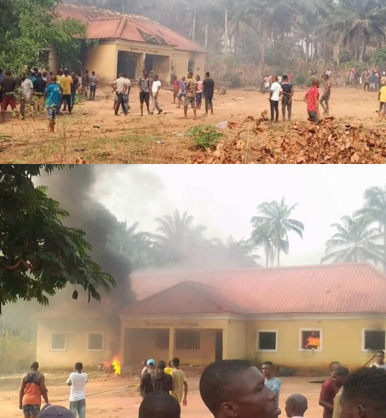 Imo state set on fire