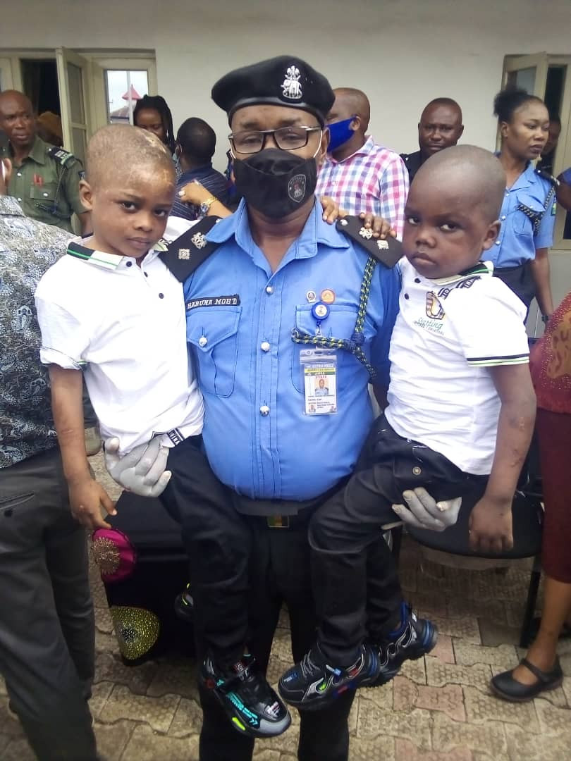 See new photos of bloodied children who were rescued from house filled with fetish items in Anambra