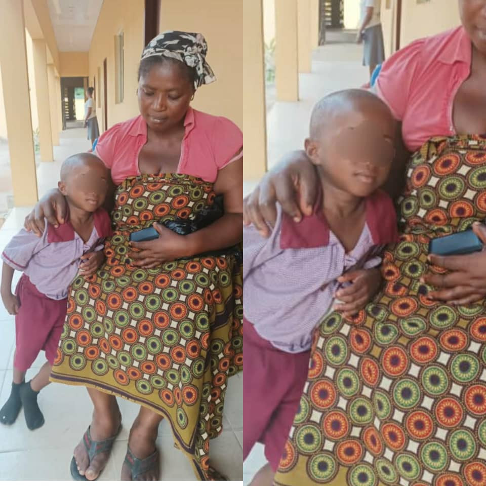 Four year old boy rescued from his abductors in Anambra after his classmates raised alarm (photo)