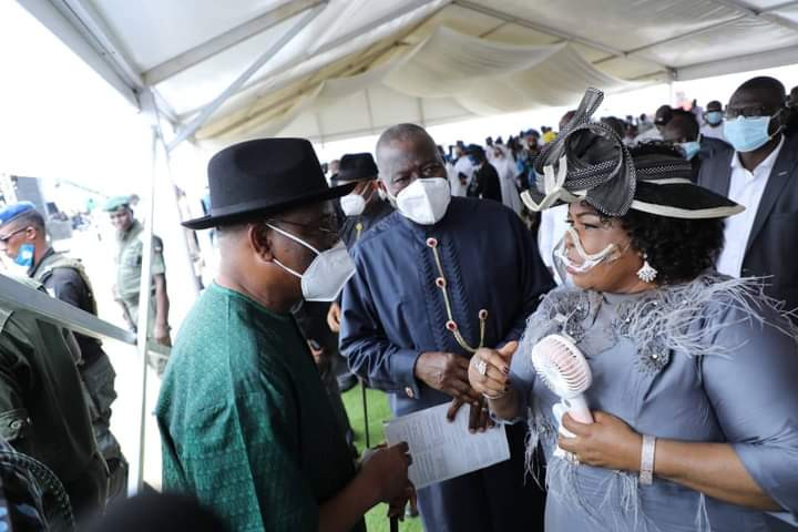 Jonathan, Wike, Aisha Buhari, Others Bid O.B Lulu-Briggs Farewell