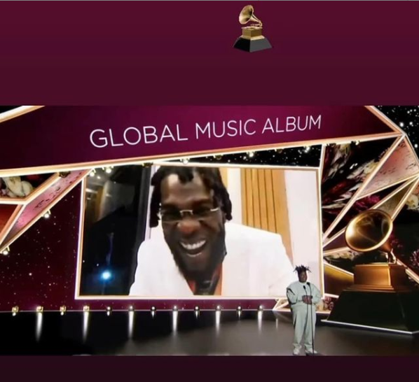 Burna Boy wins Best Global Music Album at 2021 Grammys (video)