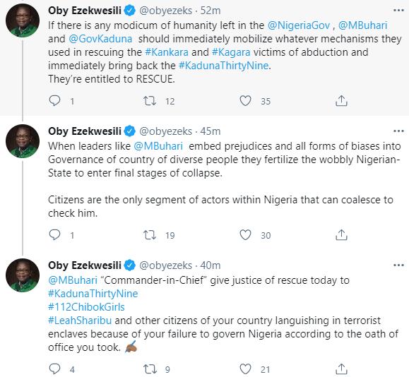 """The Nigerian-State is dragging down Nigerians"" Oby Ezekwesili writes"