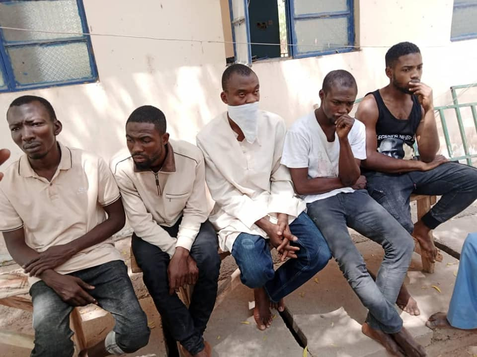 Police parade four Katsina varsity students suspended for cultism after they fought over a girl
