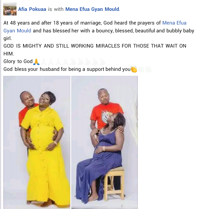 48-year-old Ghanaian woman gives birth to baby girl after 18 years of marriage