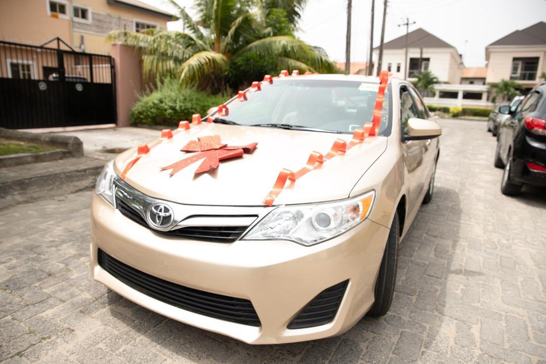 Laura ikeji-Kanu gets new car as birthday gift (photos)