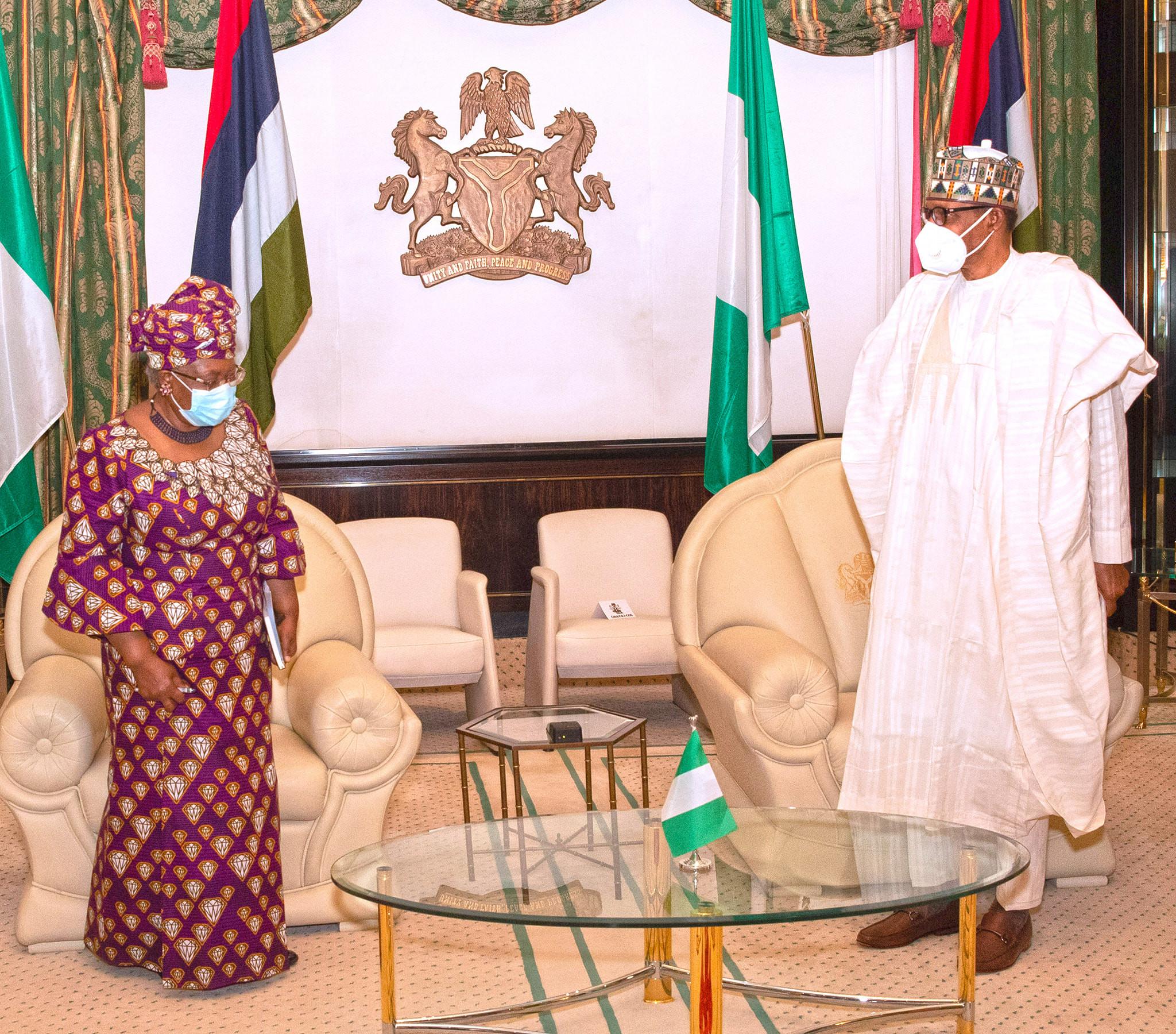 "President Buhari praises Ngozi Okonjo-Iweala ""We are happy you made it but you also earned it"""