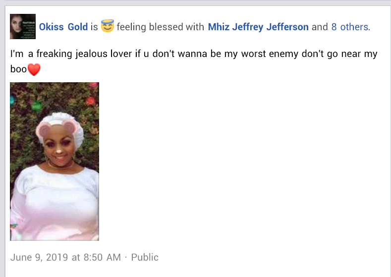 "Update: ""I am a jealous lover. If you don"