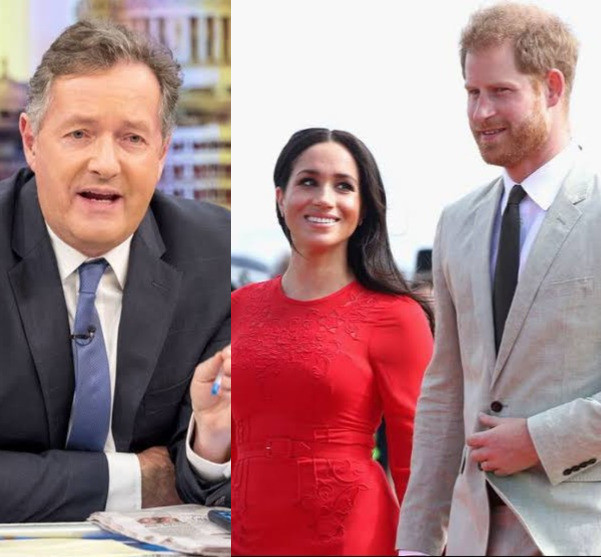 """Time to stand up for our Queen"" Piers Morgan urges Britons as he says Prince Harry and Meghan are on a ""deliberate & malicious campaign"" to ""smear, defame and trash Britain"""