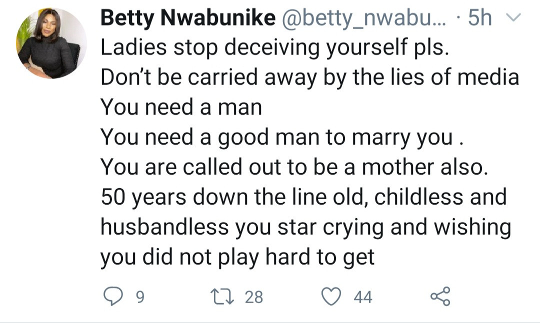 """""""As a lady, it is wrong to live alone"""" Youth advocate tells women it"""