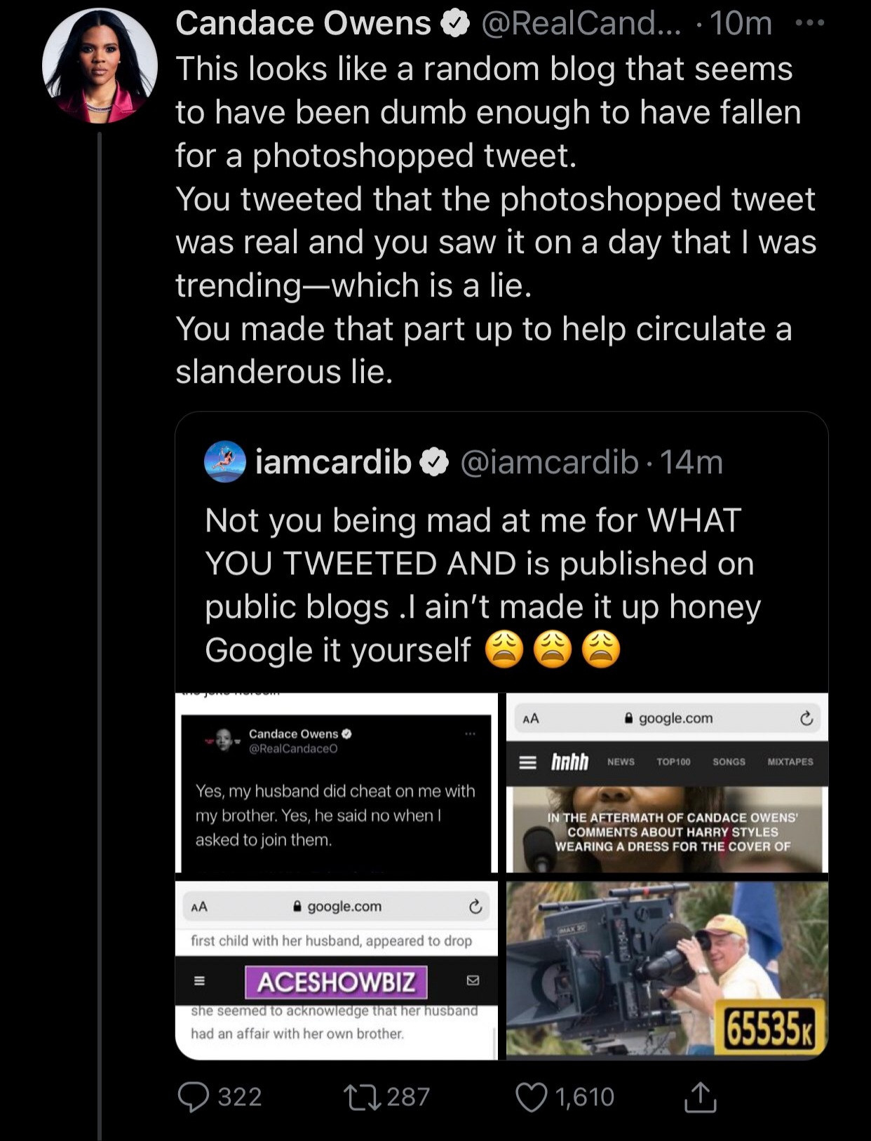 Cardi B and Candace Owens fight dirty and threaten to sue each other over Cardi