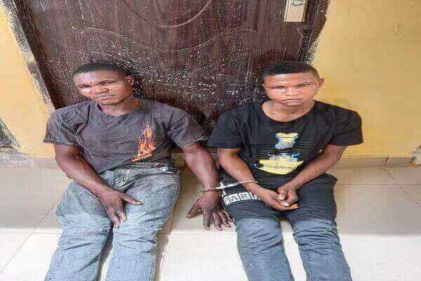 Edo police arrest two members of notorious syndicate that specializes in sending threat messages to women to pay ransom or be kidnapped, raped and killed