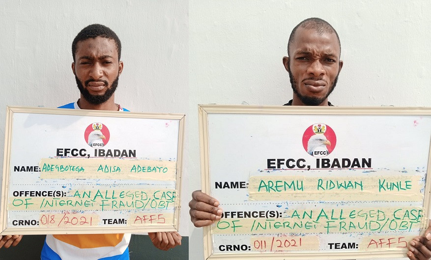 EFCC docks two men over alleged Internet Fraud in Ibadan