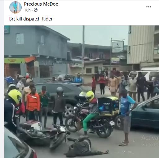Dispatch rider allegedly killed by BRT bus