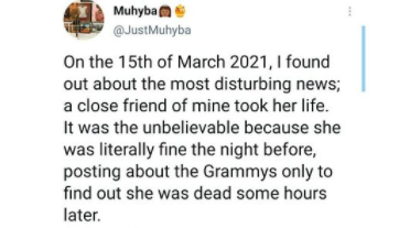 Nigerian lady commits suicide after she was falsely accused of stealing a large sum of money by her mother and grandmother