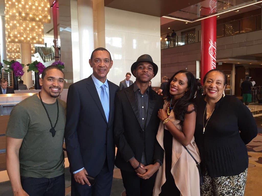 Ben Murray-Bruce visits his wife