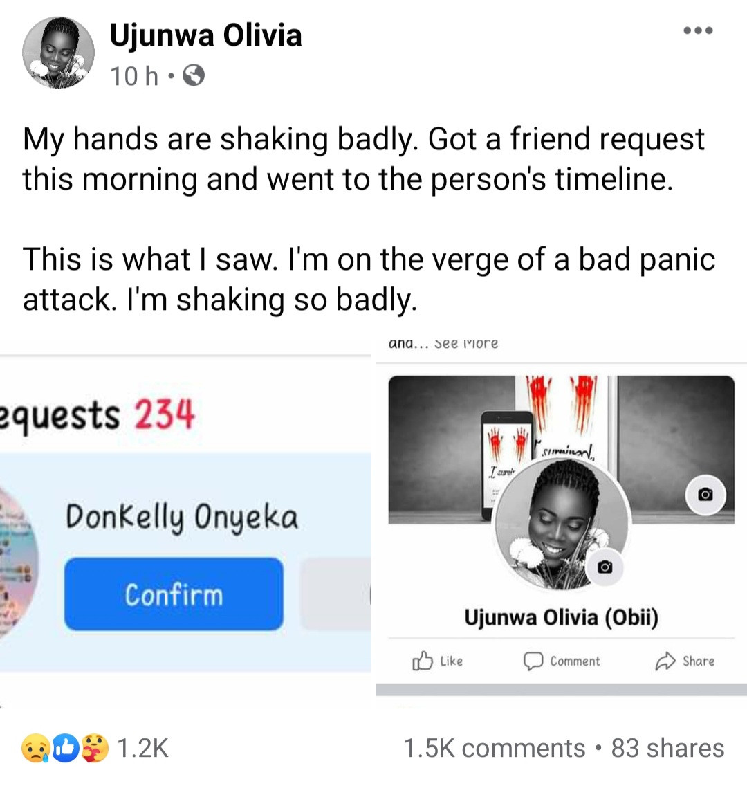 """I did evil to a girl that did nothing to me"" Man confesses on Facebook to gang-raping a girl with his friends after 3 of the friends died mysteriously"