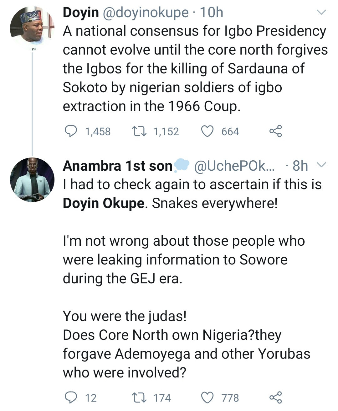 """Igbo presidency can"