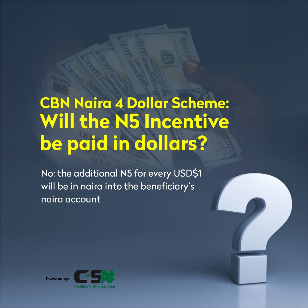 See How You Can Earn N5 for Every One Dollar You Receive From Abroad