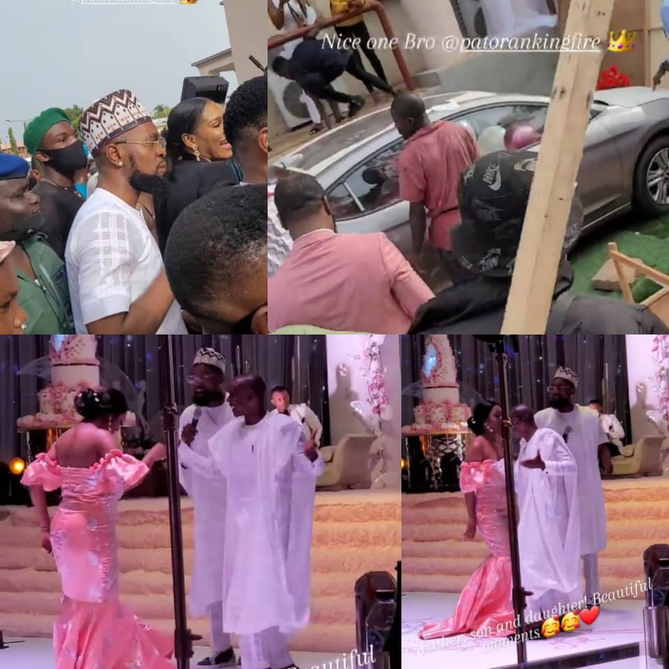 Singer Patoranking gifts his sister and her hubby a car at their wedding (video)