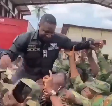 Nigerian soldier mourns as one of their leaders dies few months after he and his colleagues celebrated him for his heroic exploits (video)