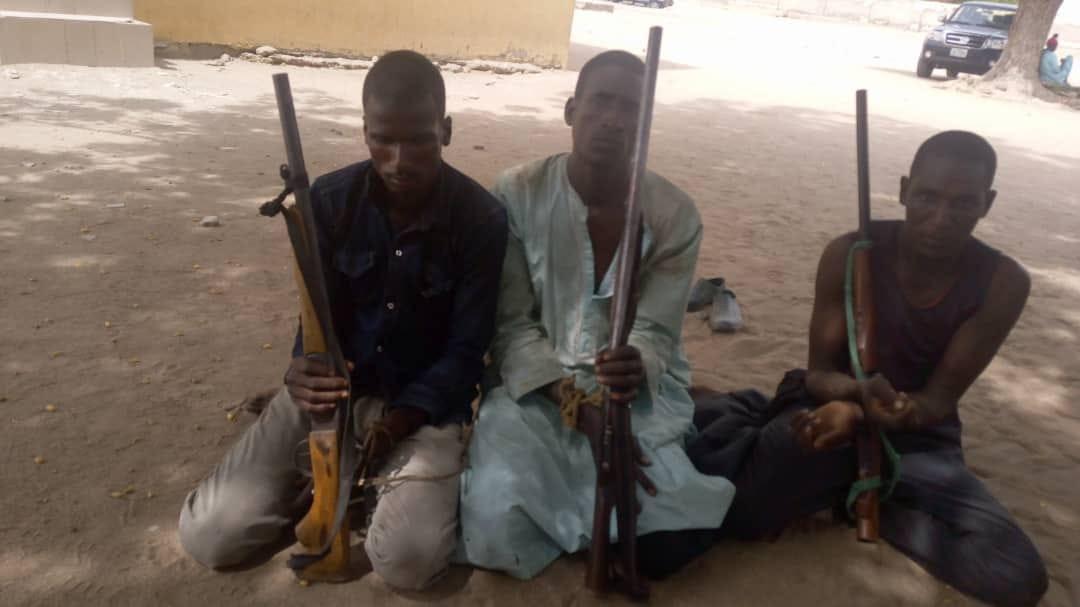 Three suspects arrested for kidnapping and armed robbery in Adamawa