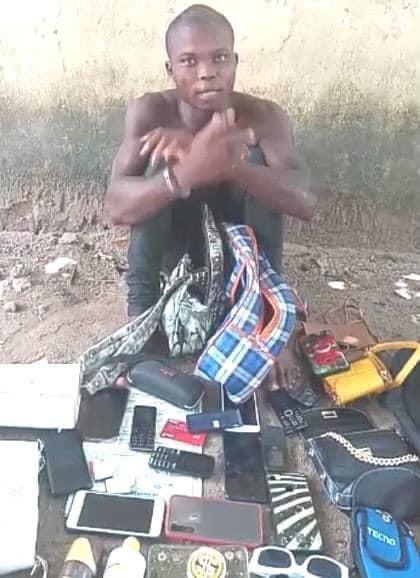 Police arrest serial rapist in Delta, recover 9 female handbags, 13 sim cards, phones