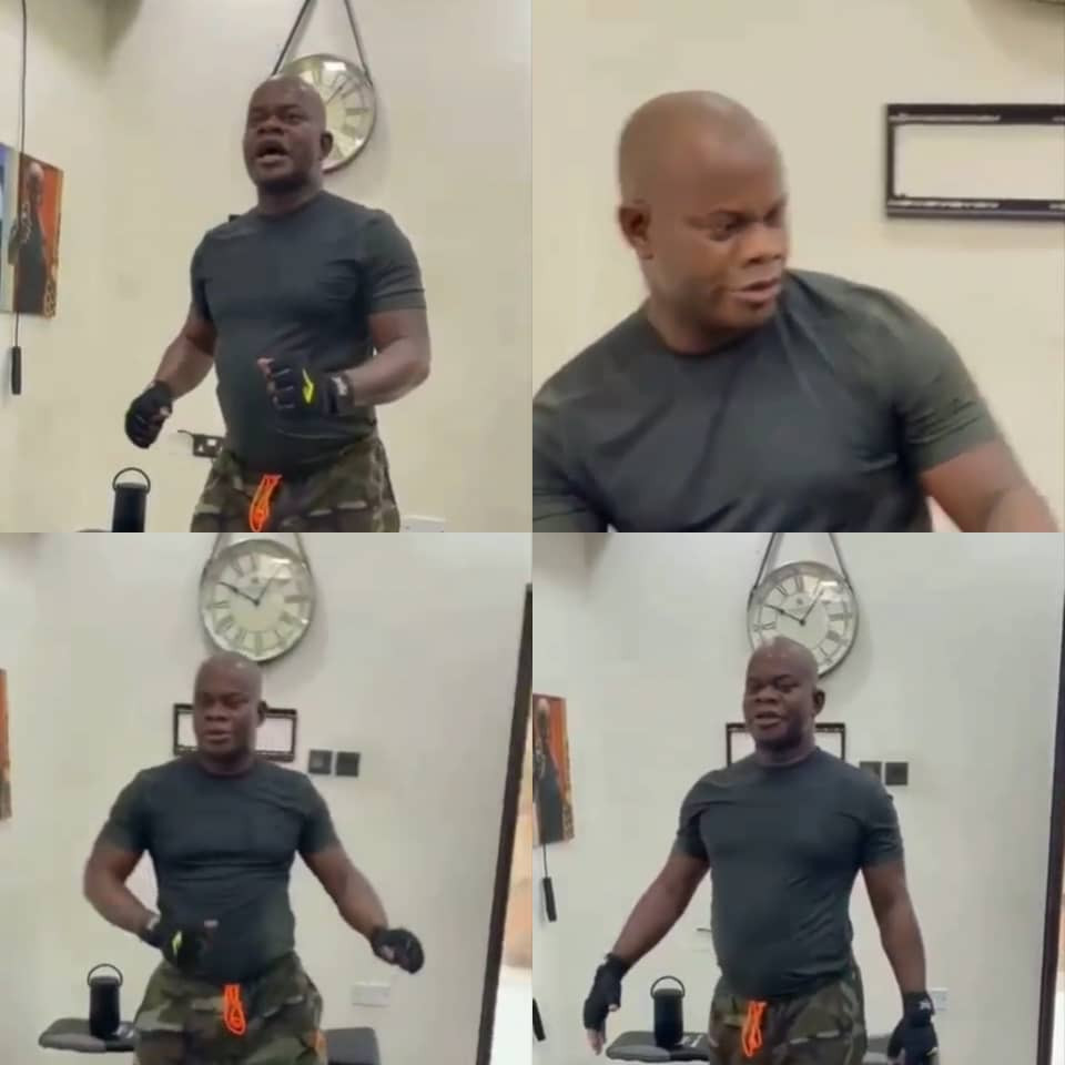 Kogi state governor, Yahaya Bello, shows off his dance skills during workout (video)