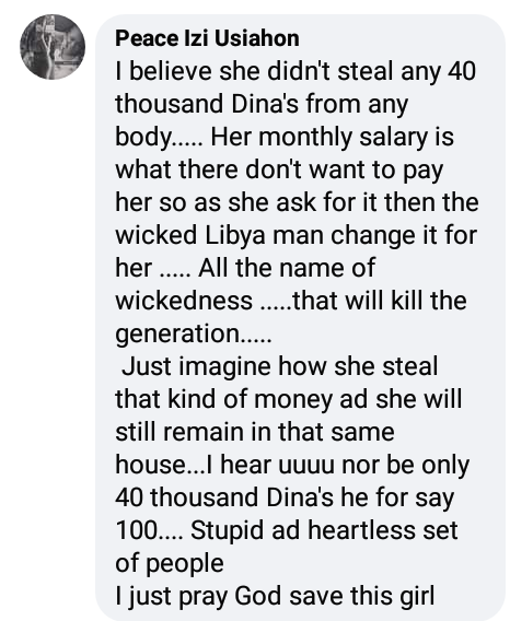 """She is innocent""- Nigerians kick as Libyan police arrest compatriot for allegedly stealing over N3m from her employer"