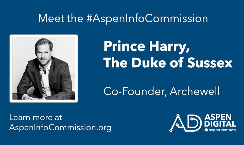 Prince Harry takes up another job at Aspen Institute as one of 14