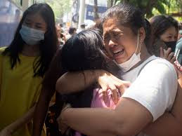 Myanmar protesters begin