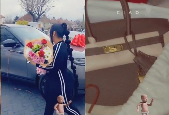 Delta state lawmaker, Ossai Osanebi gifts wife, Ogechi a Range Rover and a Hermes on her birthday