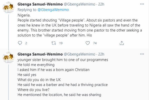 Not everything bad is village people-related - Nigerian man shares story of how deportation saved a Christian brother from going to jail in the UK