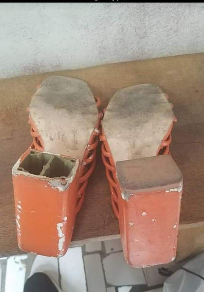 Giveaway beneficiary shares photos of the horrible shoes given to her by a benefactor
