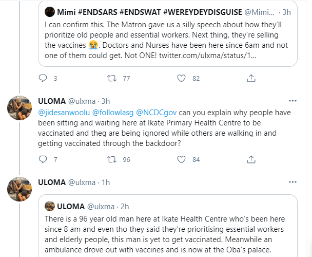 Coronavirus vaccine allegedly being sold in Ikate, Lagos
