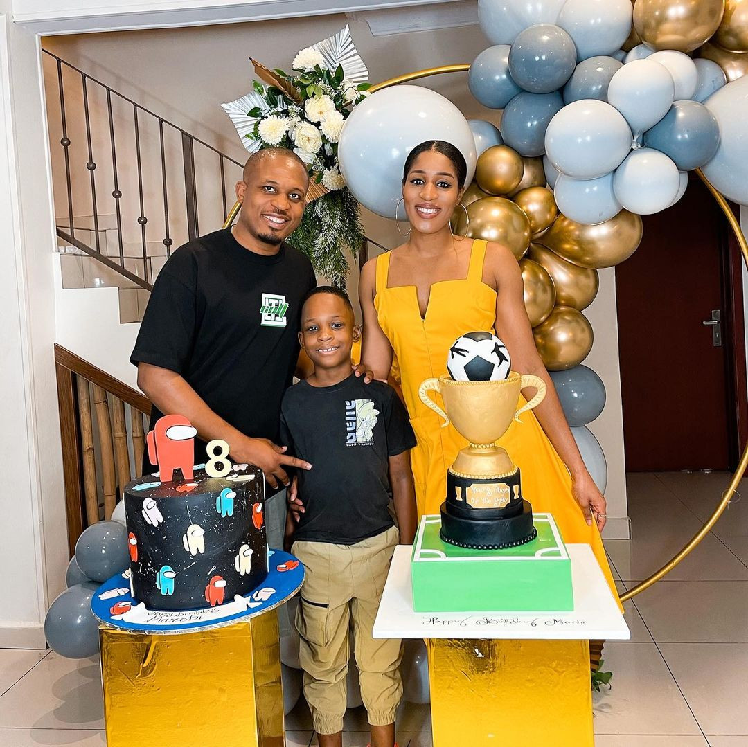 Rapper, NaetoC and wife, Nicole, celebrate their first child, Marobi, on his 8th birthday (photos)