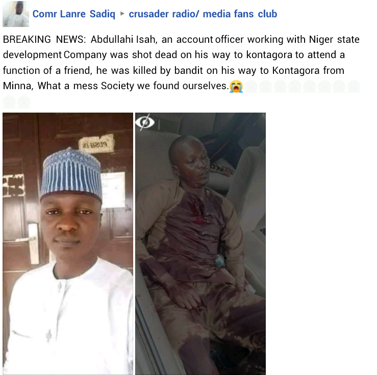 Graphic: Niger State official shot dead by suspected bandits