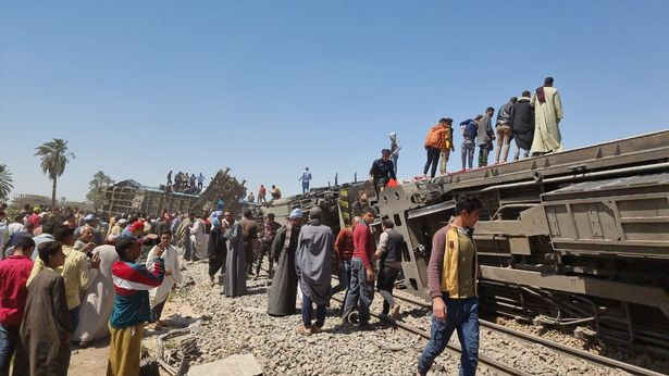Two trains crash killing at least 32 and injuring over 66 in Egypt