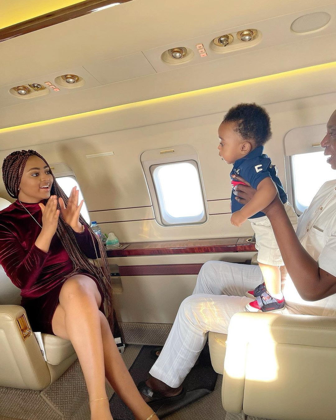 Lovely photos of Regina Daniels, her billionaire hubby, Ned Nwoko and son Munir