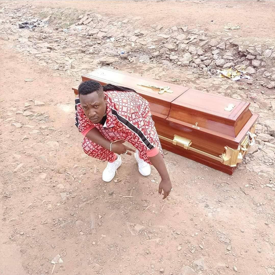 Popular Kenyan musician buys his own coffin