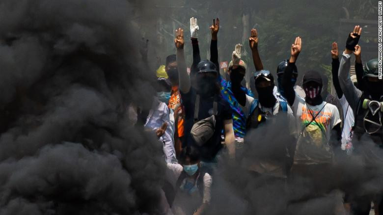 UN condemns Myanmar military?s ?shameful, cowardly? attacks on peaceful protesters after 114 people are killed in one day