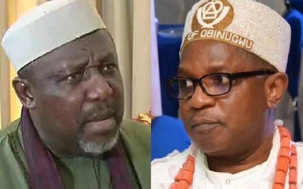 Rochas Okorocha allegedly attacked by Imo monarch inside an airplane