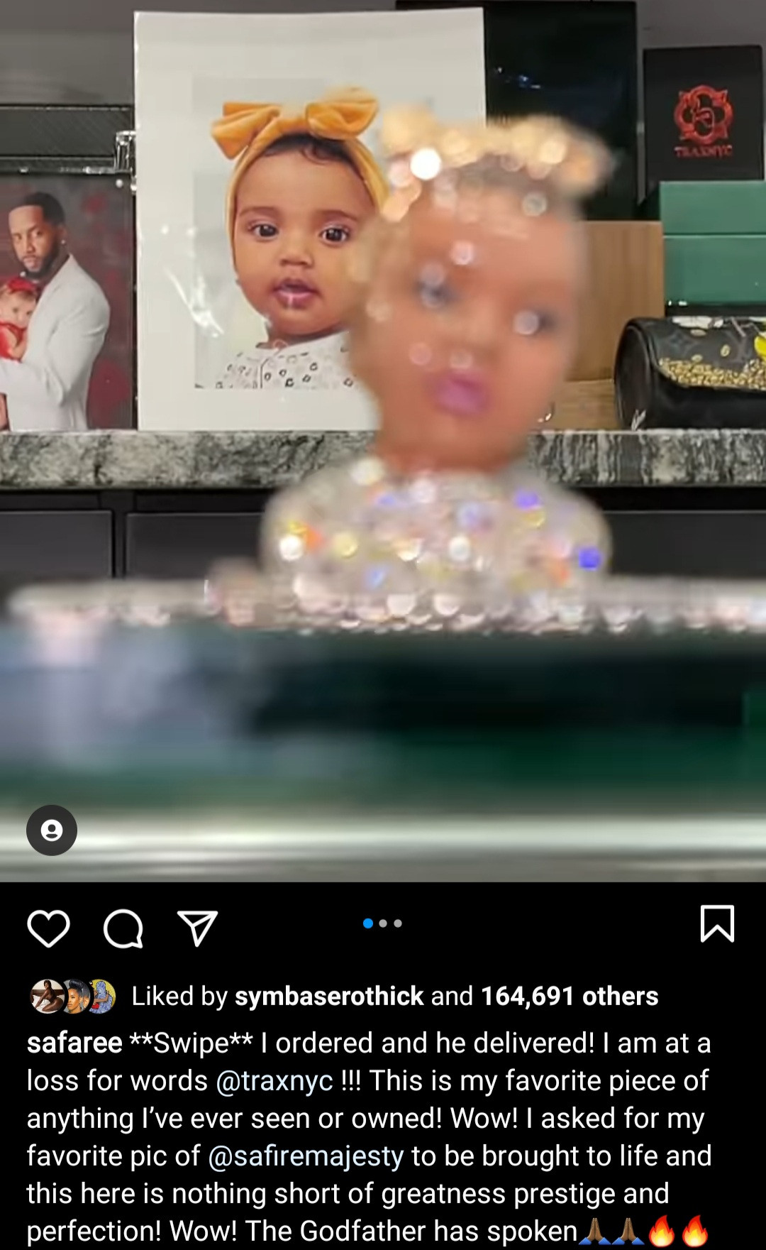 Safaree gets jewellery of his daughter