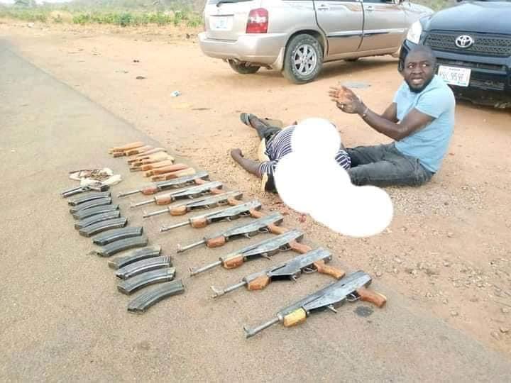 Police arrest notorious gunrunners who supply firearms to bandits in Kaduna, Zamfara, Katsina, Niger states