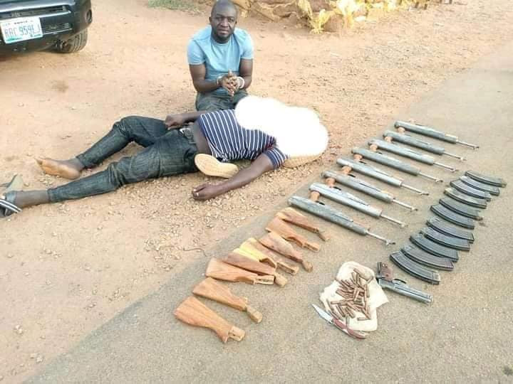 Police arrest notorious gunrunners who supply firearms to bandits in Kaduna, Zamfara, Katsina, Niger states