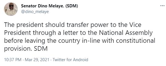 Medical trip: President Buhari should transfer power to Osinbajo - Dino Melaye