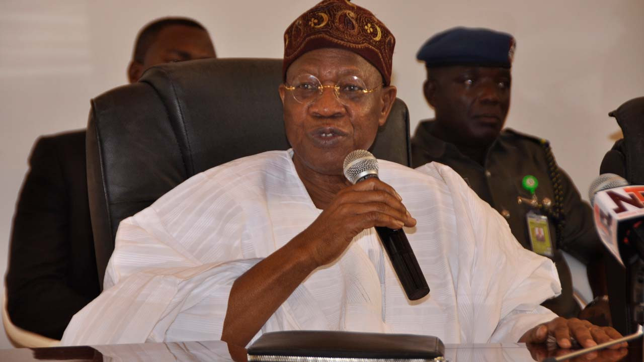 Nigerian brands that shot their adverts abroad will pay N100k each time it is aired locally - Lai Mohammed