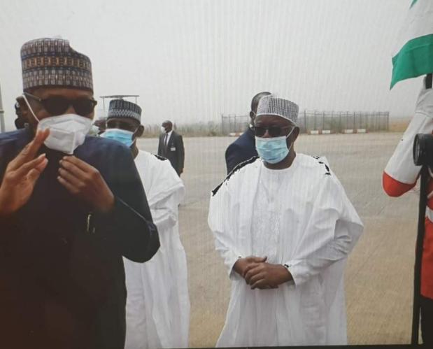 President Buhari departs Nigeria for the UK (photos)