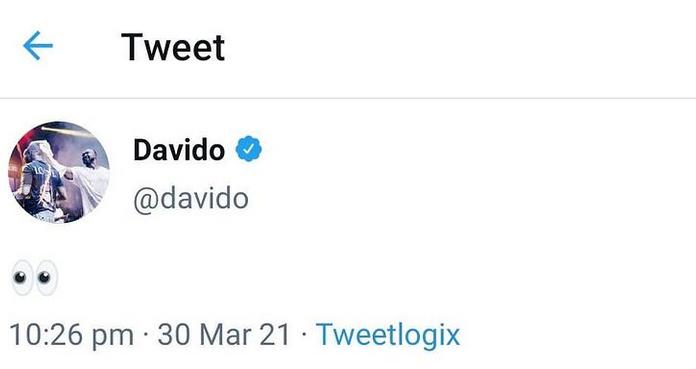 Davido réagit après la publication des photos de lui embrassant sa nouvelle petite amie-(vidéo)