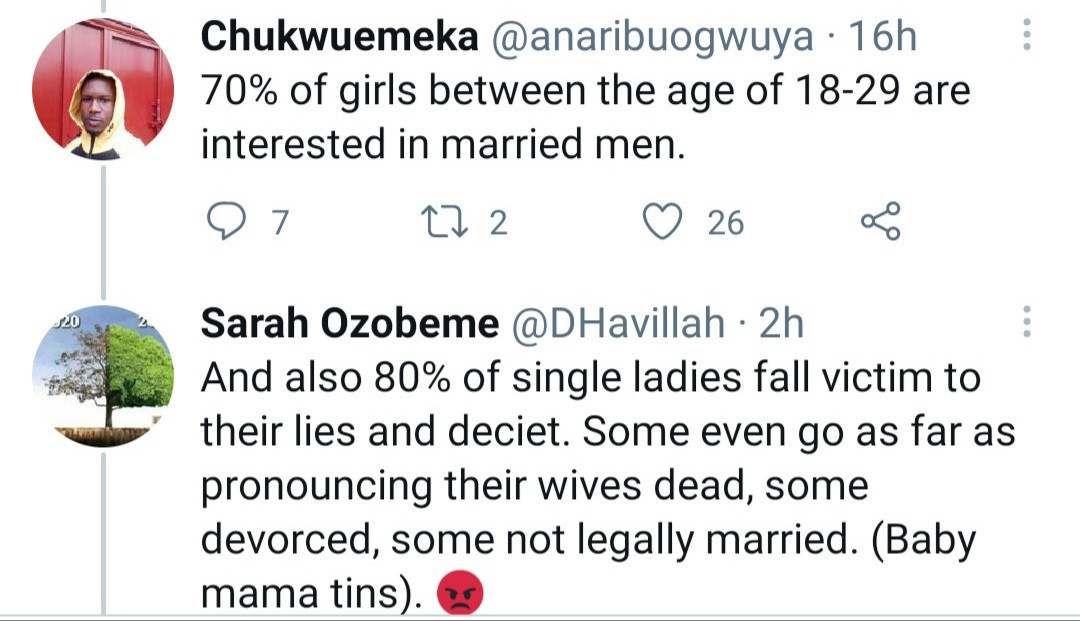 Married men should have uniform I think the ring is not working- Nigerian lady says